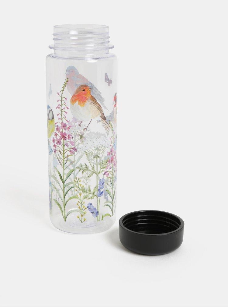 Sticla de apa cu capac etans si print pasari Sass & Belle Garden birds
