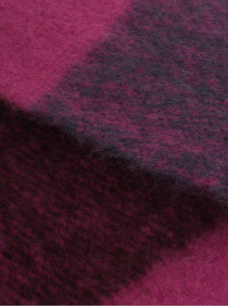 Fular roz inchis cu franjuri VERO MODA Laura