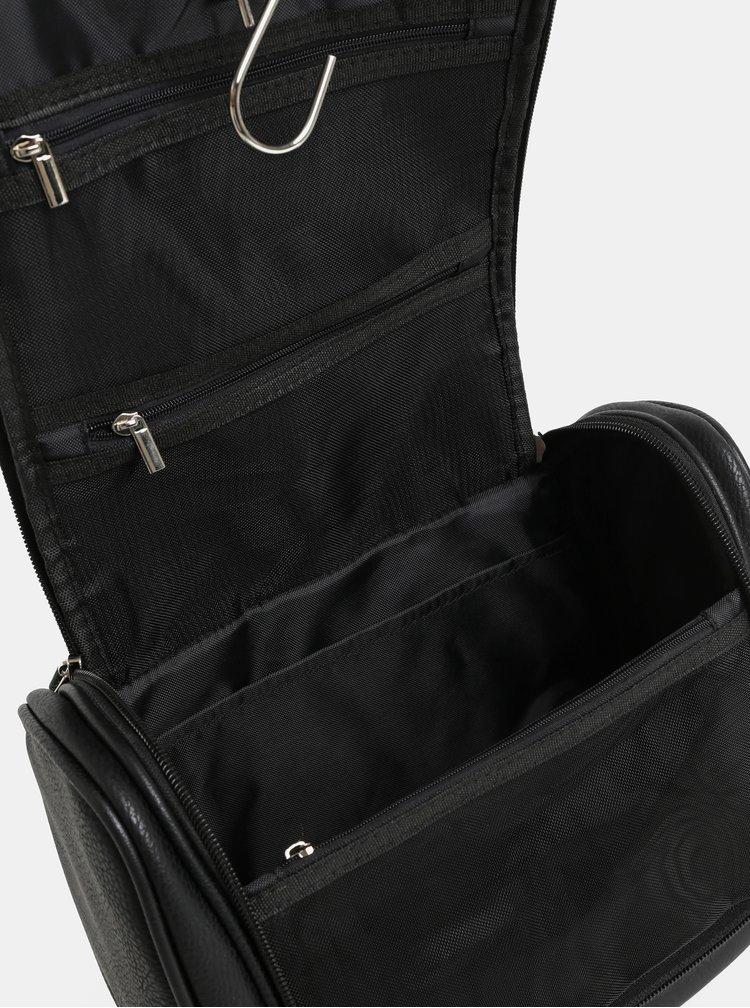 Černá kosmetická taška s příslušenstvím Portland