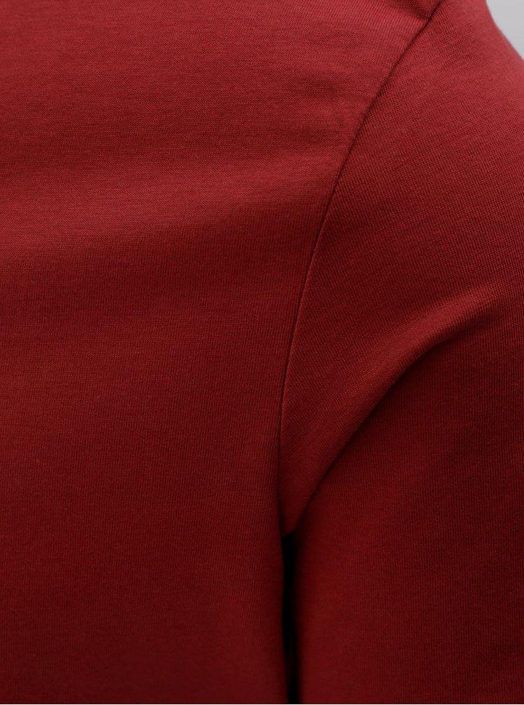 Červené basic tričko s krátkym rukávom Selected Homme Merce