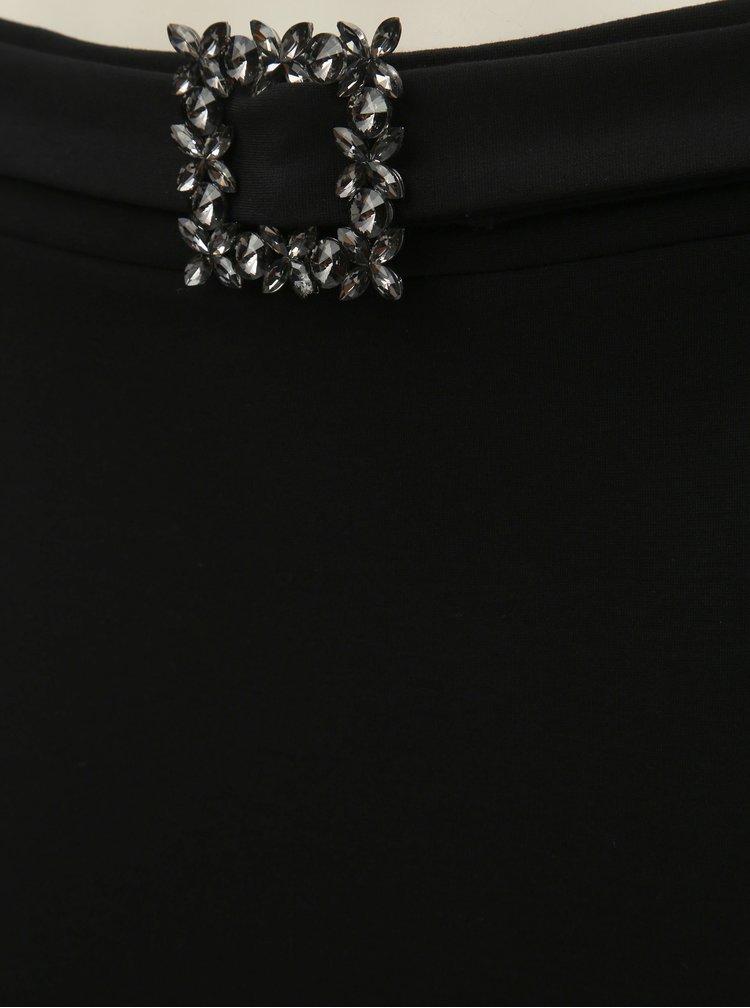 Fusta neagra cu catarama decorativa Dorothy Perkins