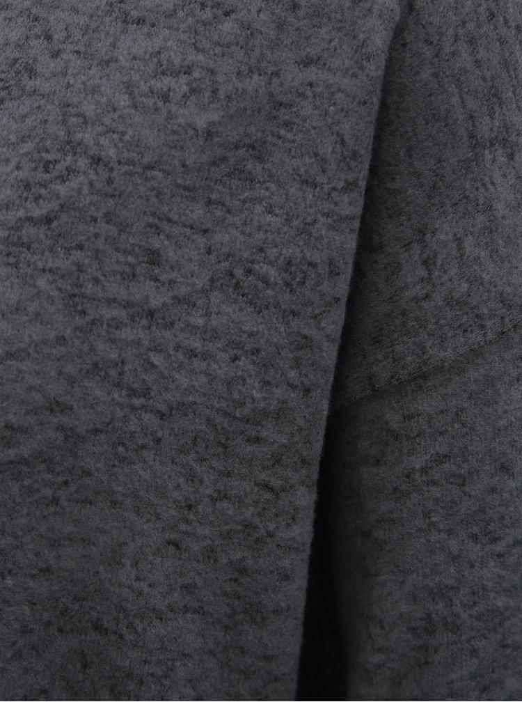 Šedý žíhaný volný svetr VERO MODA Mai Royanna