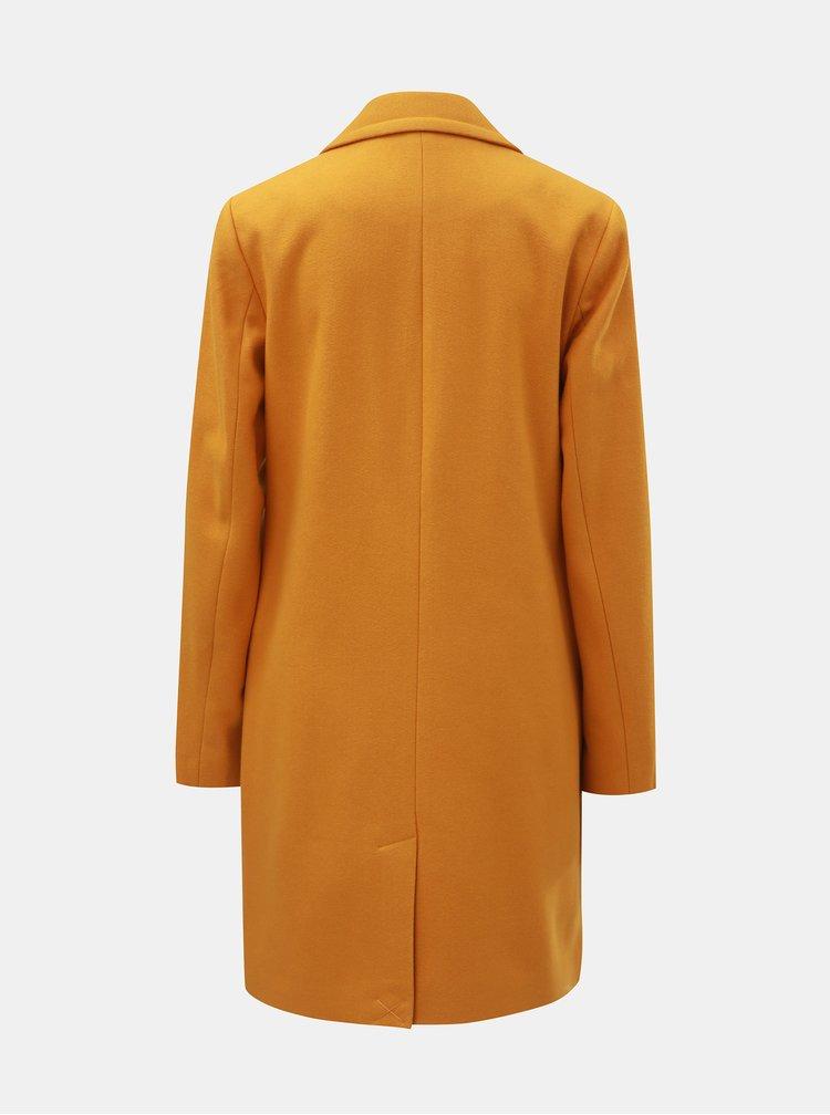 Hořčicový kabát Dorothy Perkins