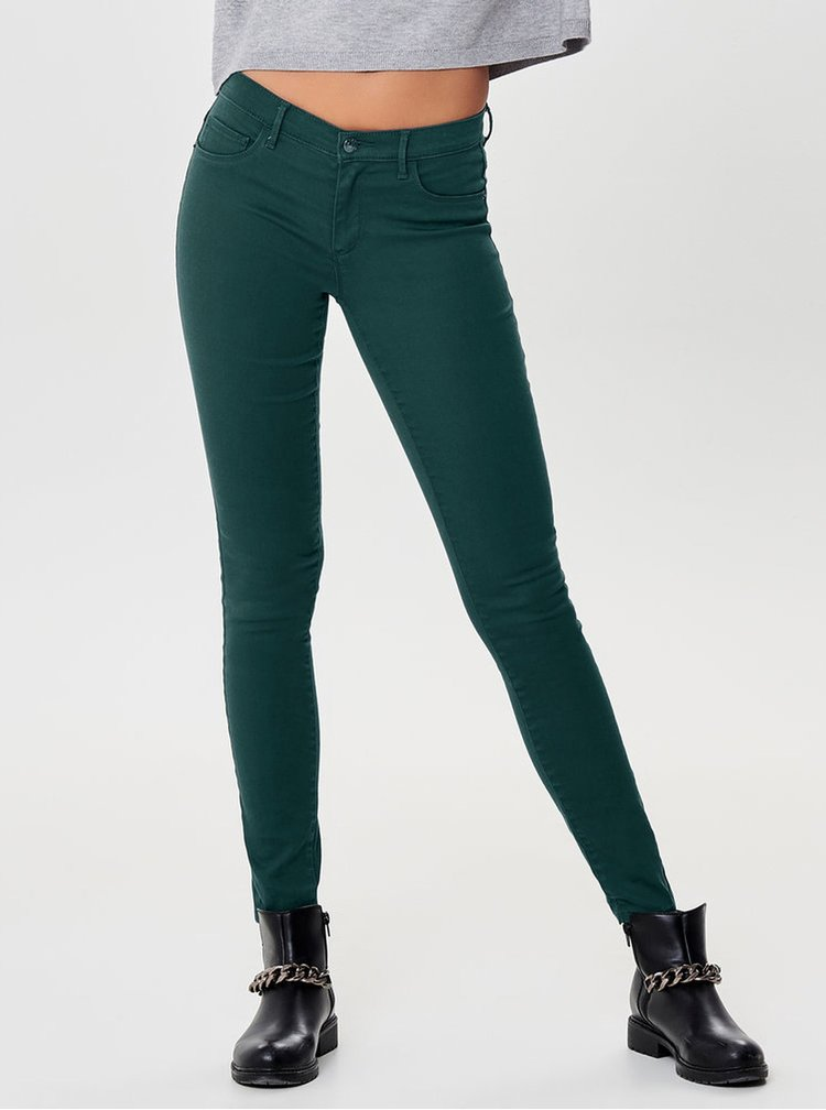 Blugi verzi skinny fit din denim ONLY