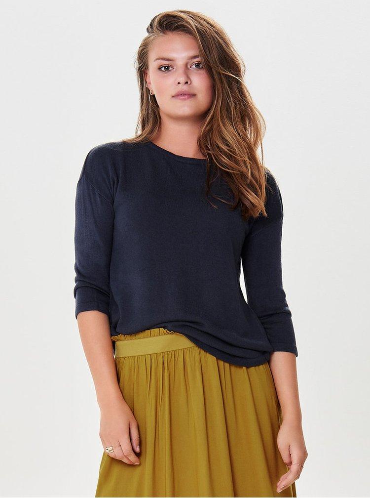 Tmavomodrý tenký sveter s 3/4 rukávom Jacqueline de Yong Hush