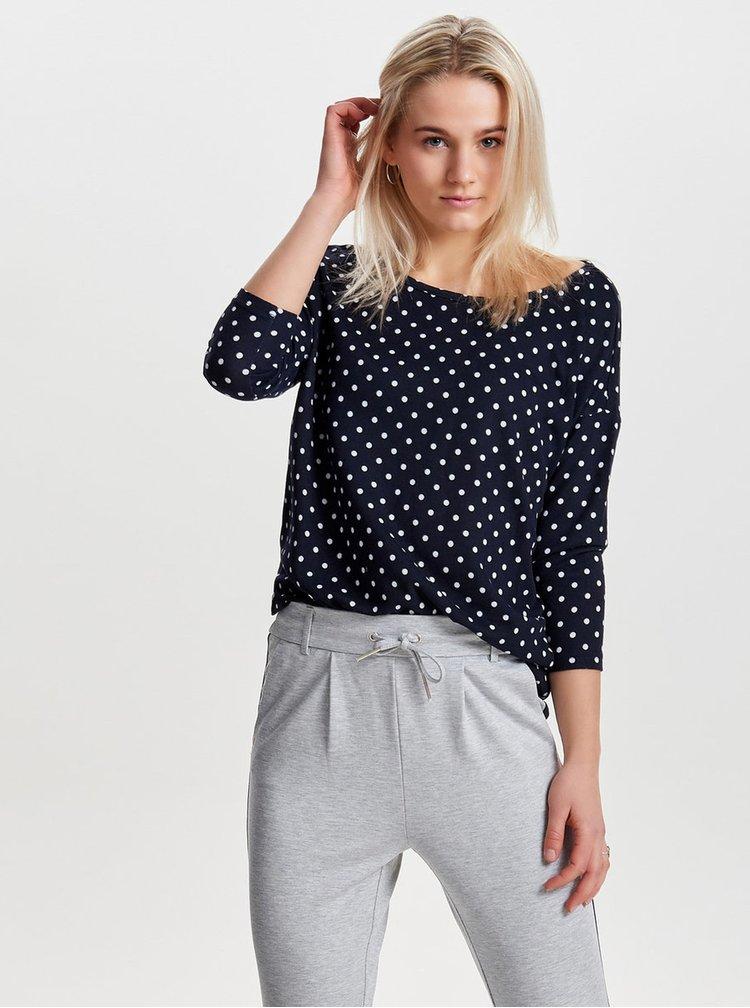 Bluza oversized bleumarin cu buline -  ONLY Elcos