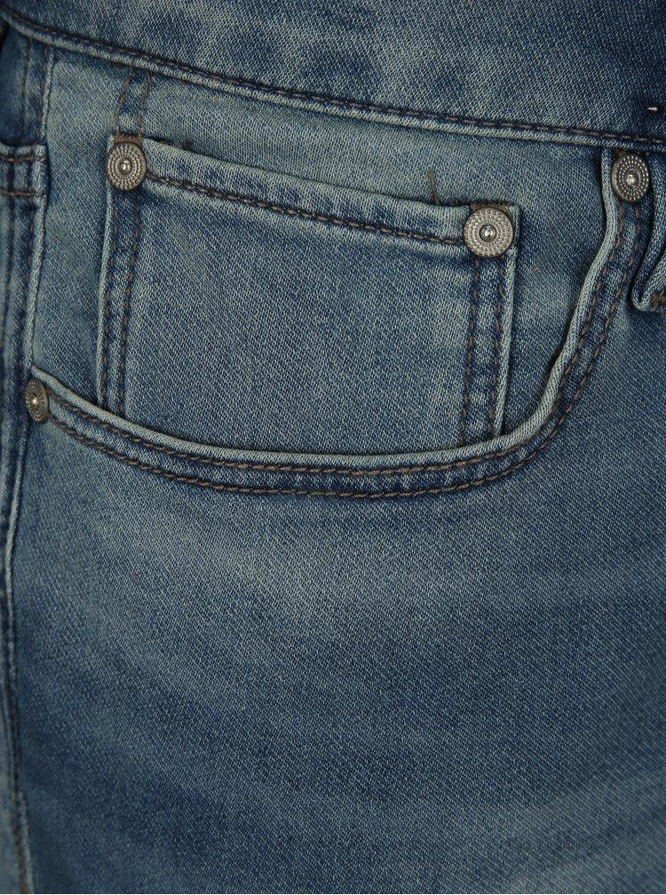 Modré rifľové regular fit kraťasy Jack & Jones Rick
