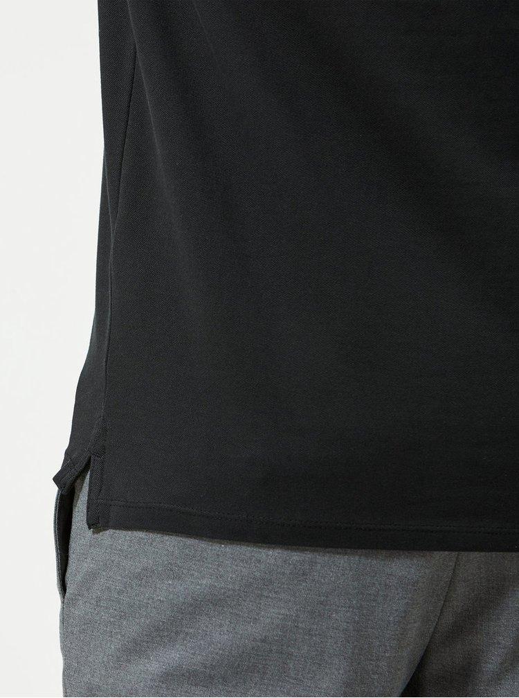 Černé basic polo tričko Selected Homme Haro