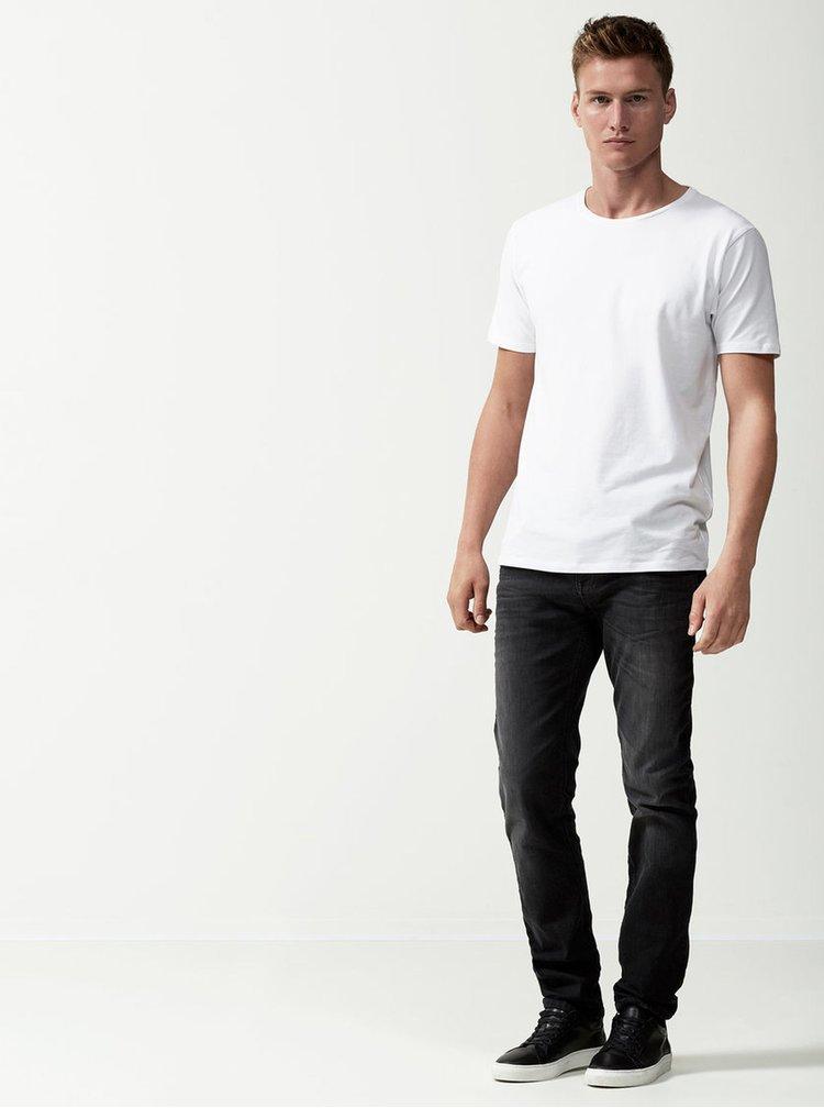 Biele basic tričko Selected Homme Pima