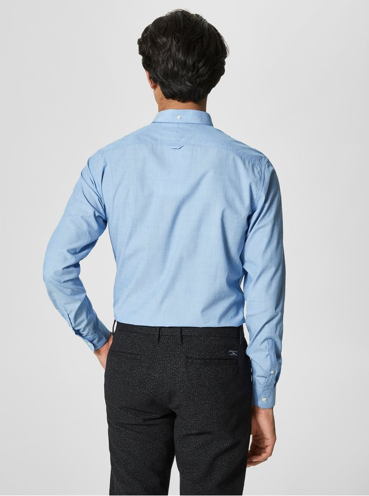 Camasa albastra slim fit cu guler buttons down - Selected Homme Donewawe