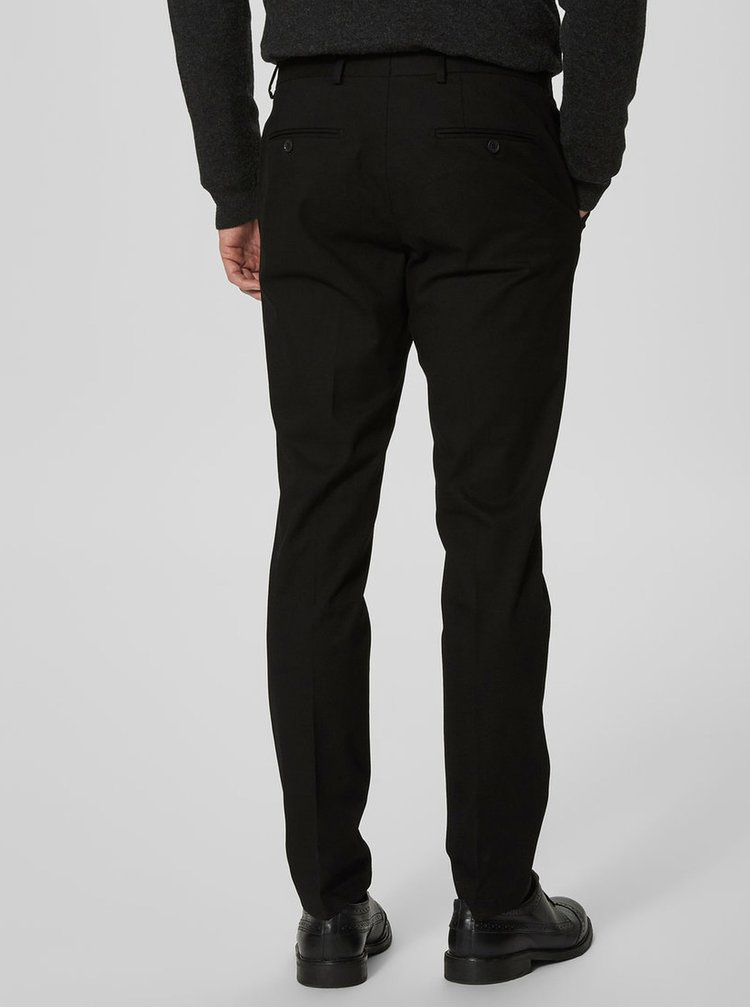 Pantaloni slim negri Selected Homme