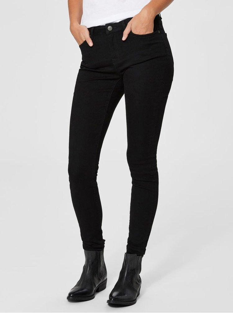 Černé skinny džíny s nízkým pasem Selected Femme