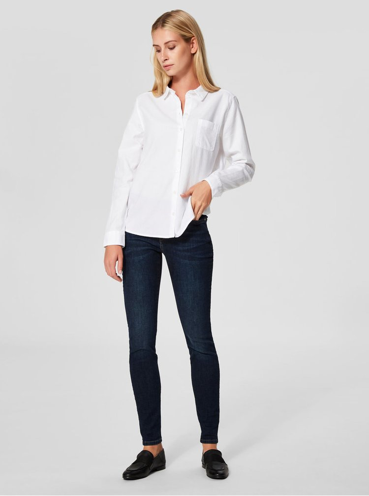 Tmavě modré skinny džíny Selected Femme