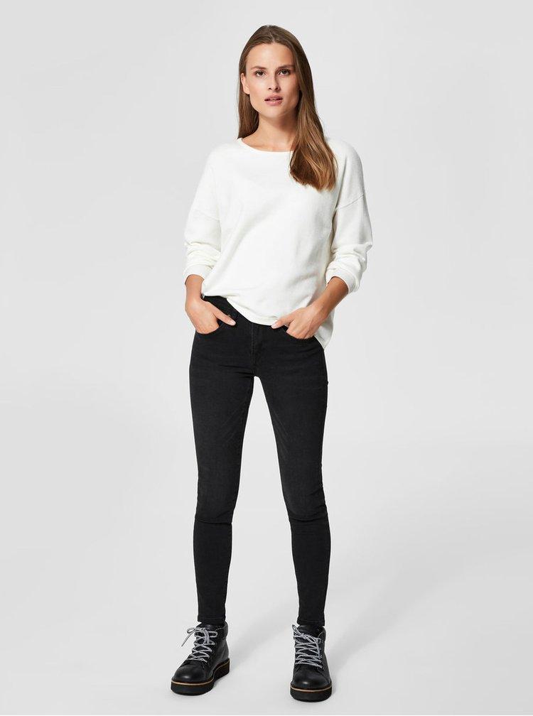 Biely voľný sveter Selected Femme Minna