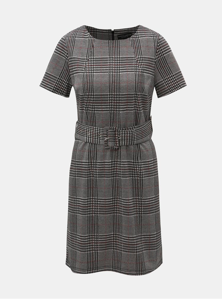 Rochie gri cu model si cordon Dorothy Perkins Belted