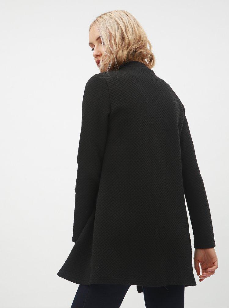 Černý dlouhý kardigan s prošívaným vzorem VILA Naja
