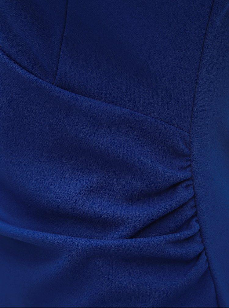 Modré pouzdrové šaty s řasením na bocích Dorothy Perkins Riley