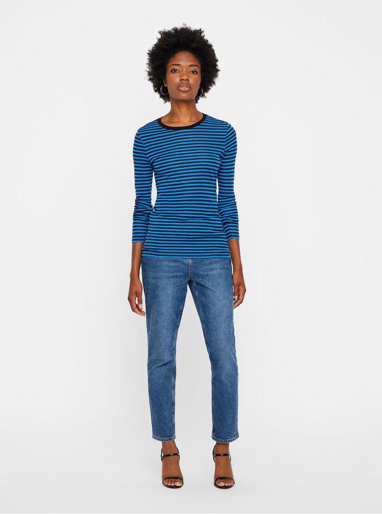Vínovo-modré pruhované tričko VERO MODA Ita