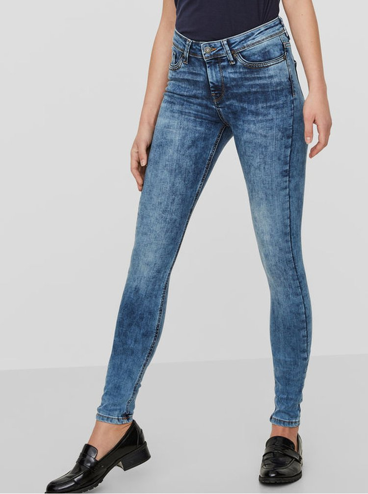 Modré slim fit džíny VERO MODA Seven