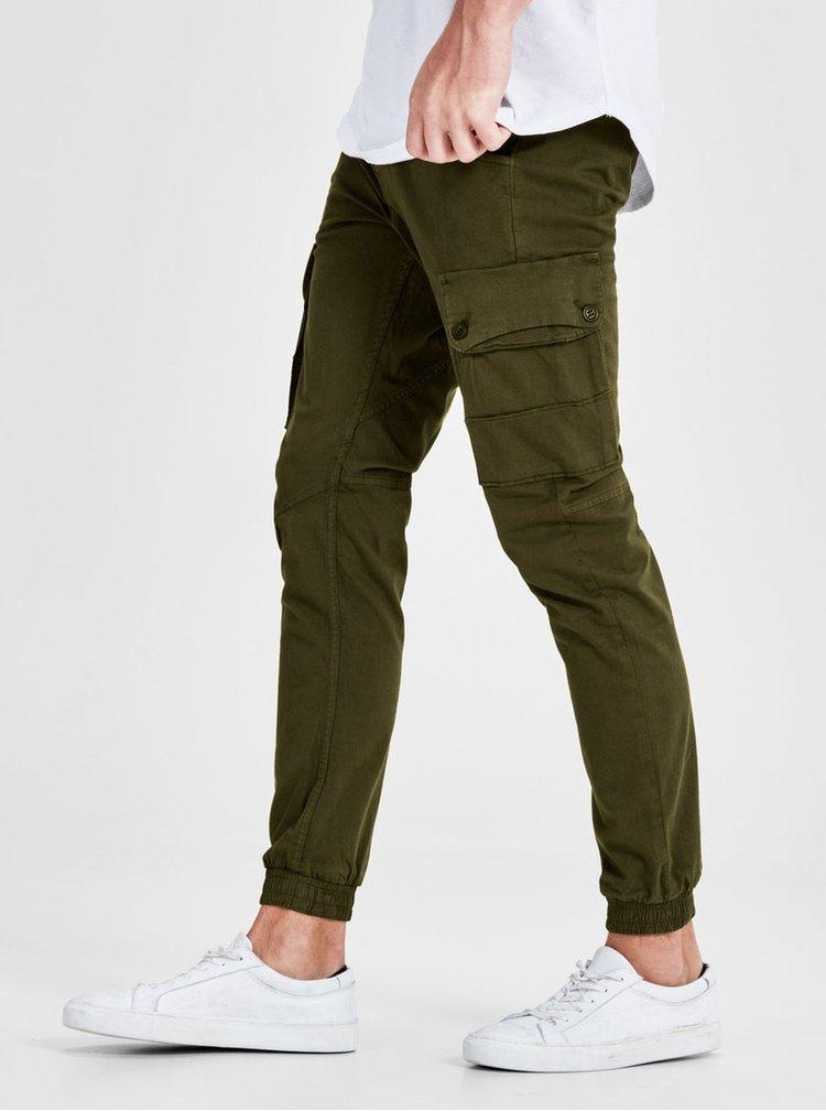 Kaki nohavice s vreckami Jack & Jones Paul