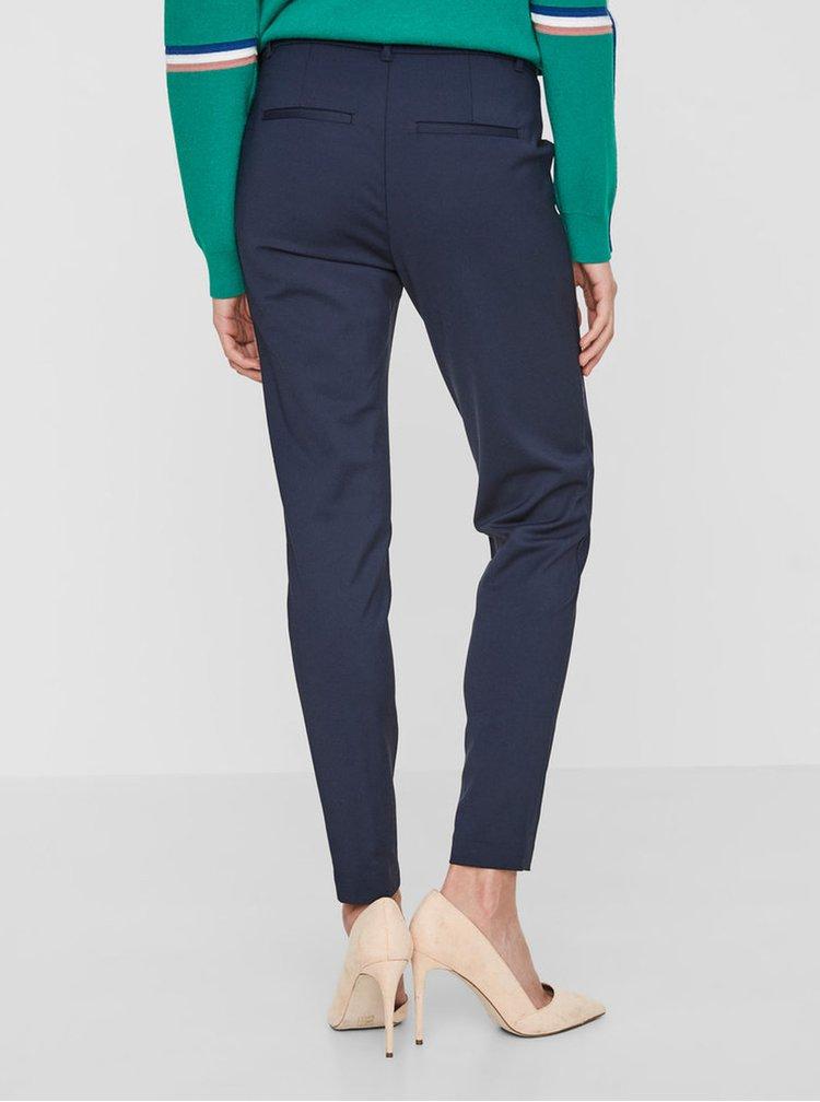 Tmavě modré kalhoty s kapsami VERO MODA Victoria