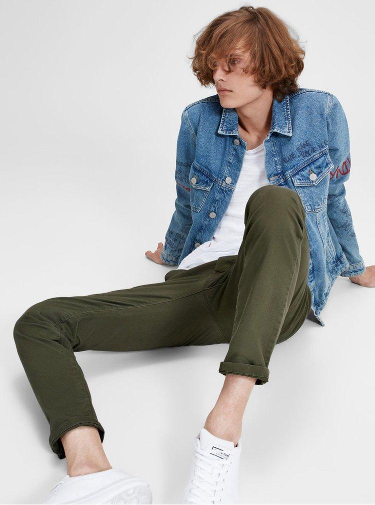 Zelené chino kalhoty Jack & Jones Marco