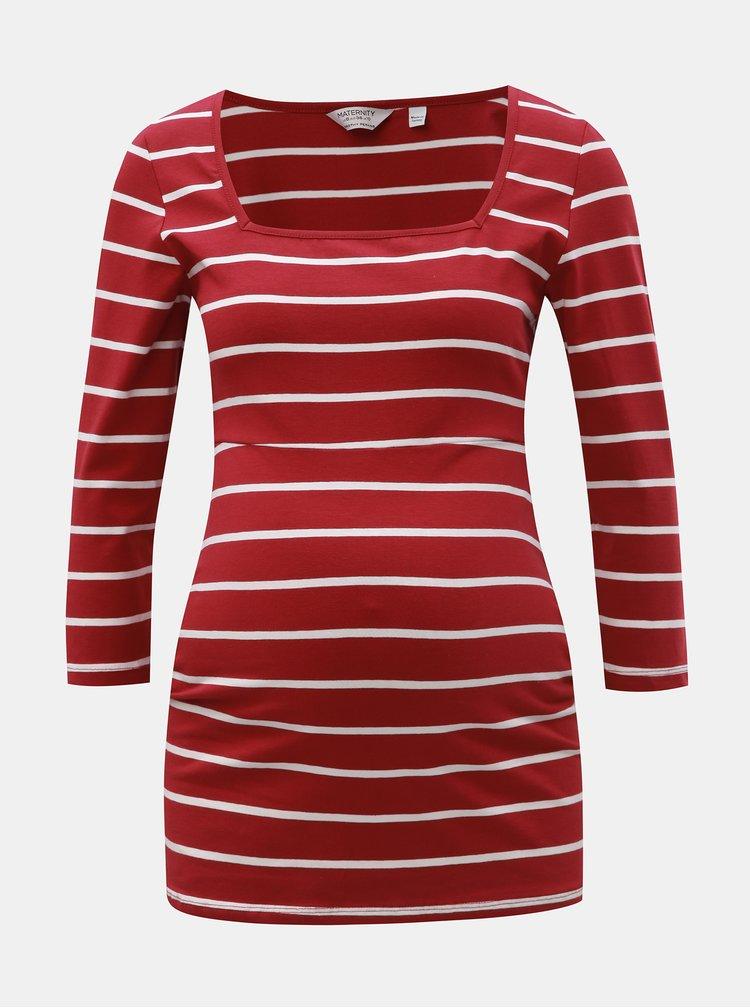 Tricou rosu in dungi pentru femei insarcinate Dorothy Perkins Maternity