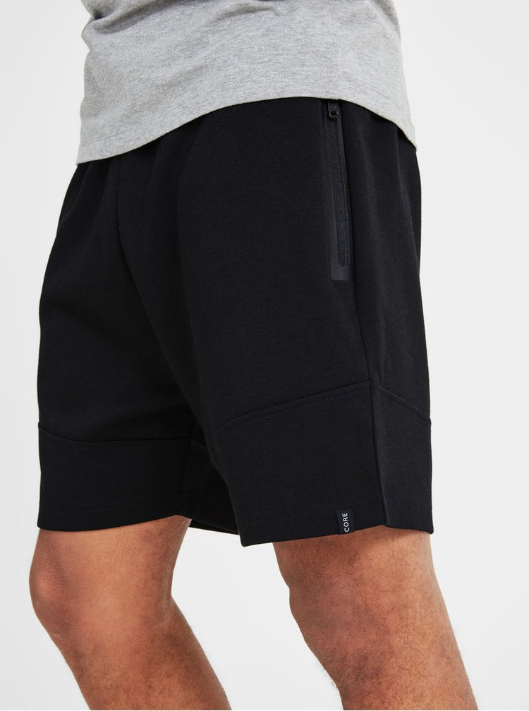 Pantaloni sport scurti negri Jack & Jones Will