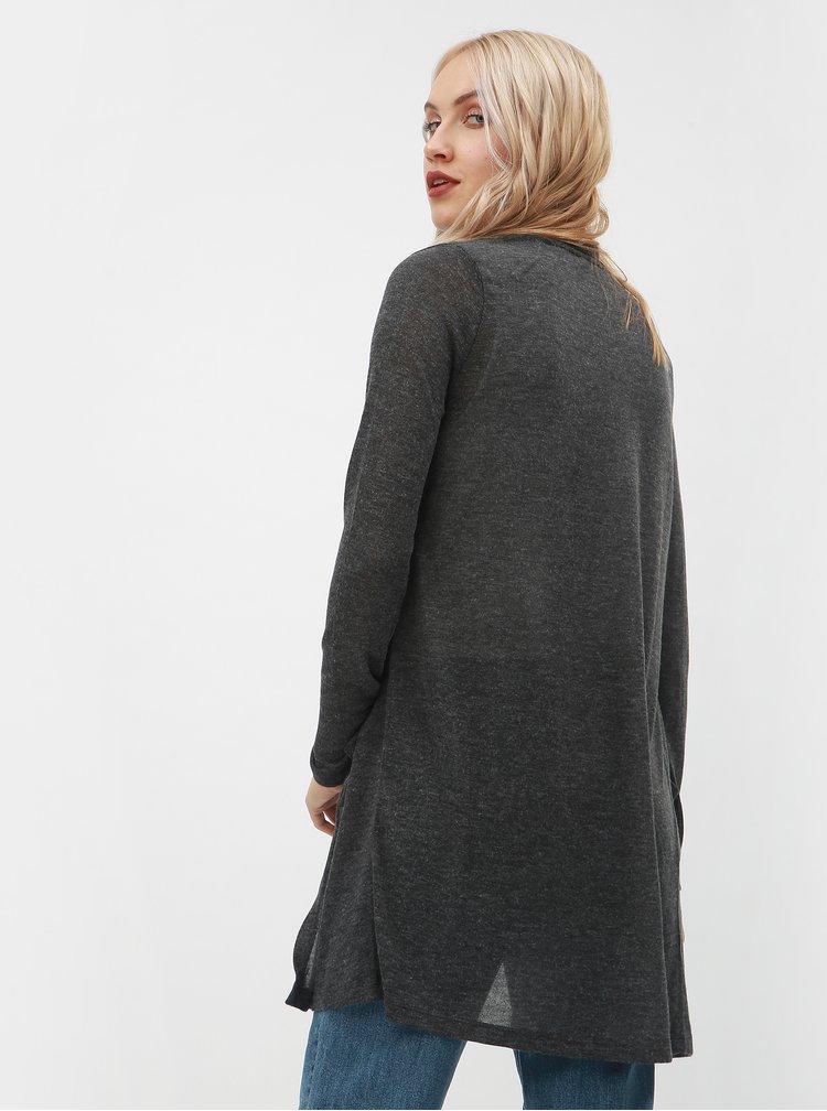 Tmavě šedý kardigan s kapsami VERO MODA Wilma