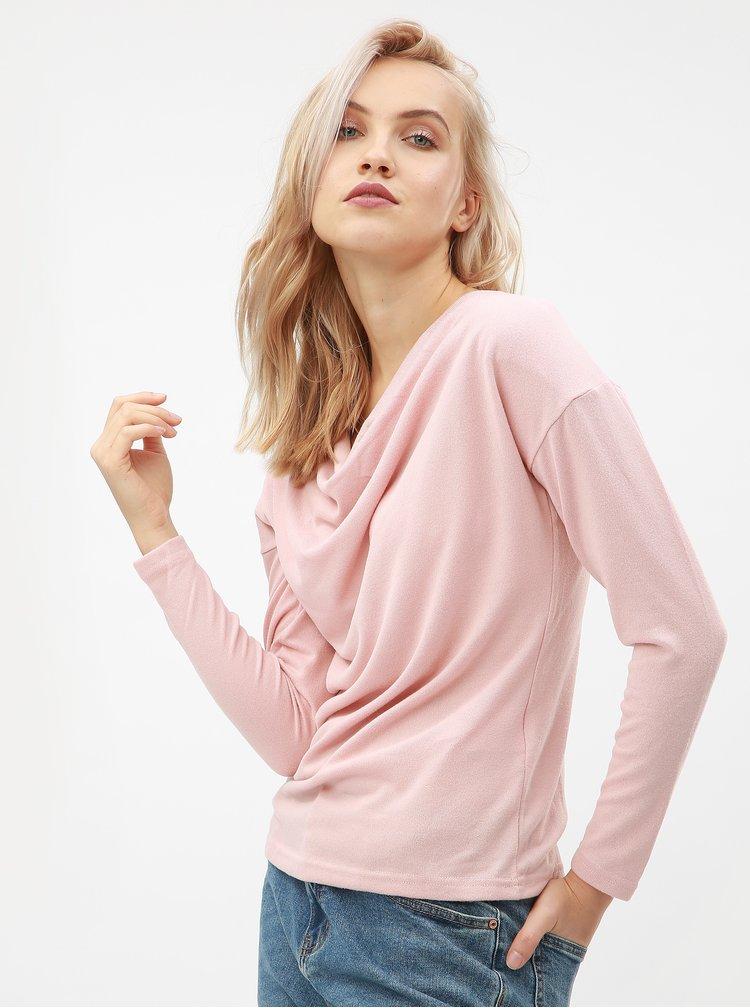 Pulover roz cu maneci lungi ONLY Elcos