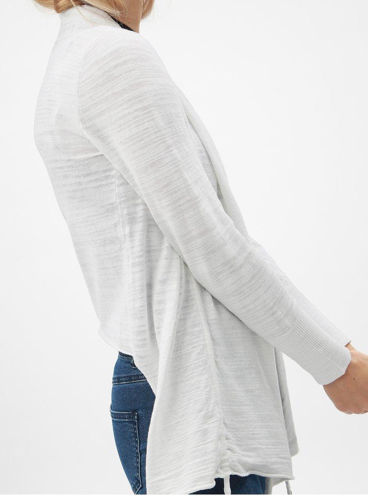 Bílý kardigan se stahováním na bocích DKNY