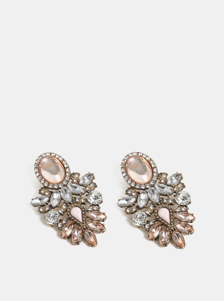 Cercei roz, auriu si argintiu ONLY Sappa