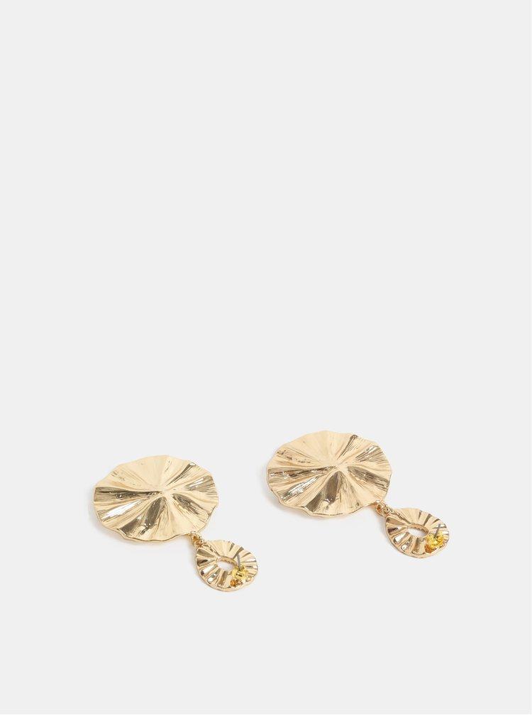 Cercei rotunzi aurii ONLY Framboise