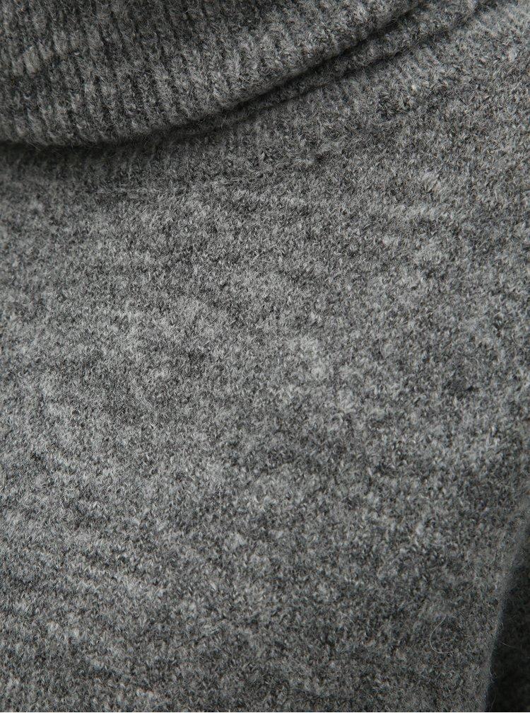 Helanca gri melanj cu amestec de lana ONLY Meredith