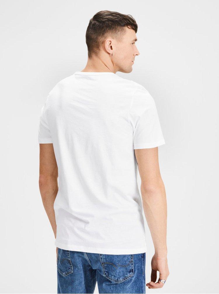 Sada dvou bílých basic triček s krátkým rukávem Jack & Jones Basic