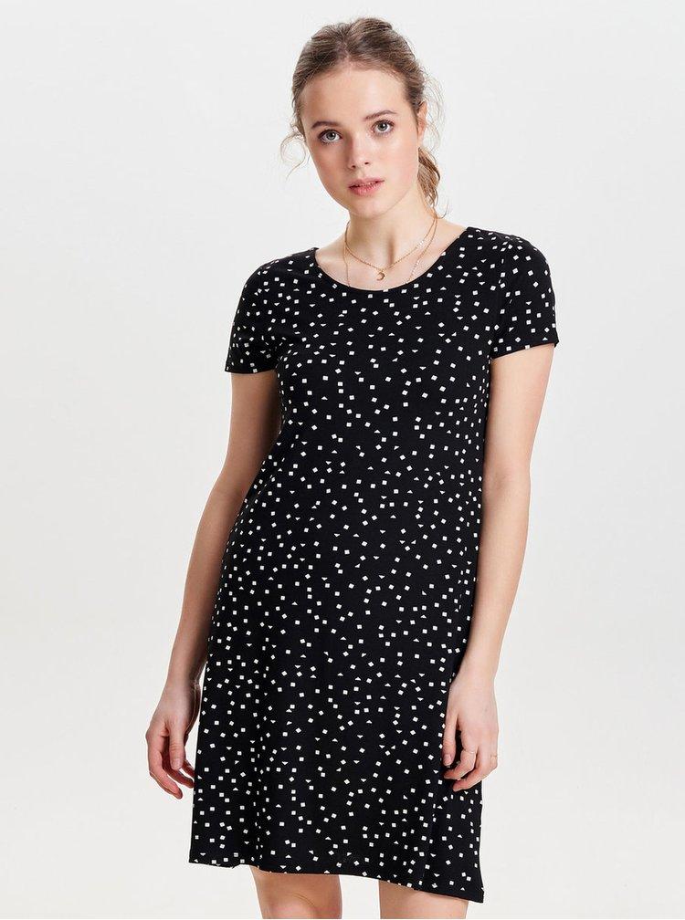 Černé šaty s potiskem ONLY Bera