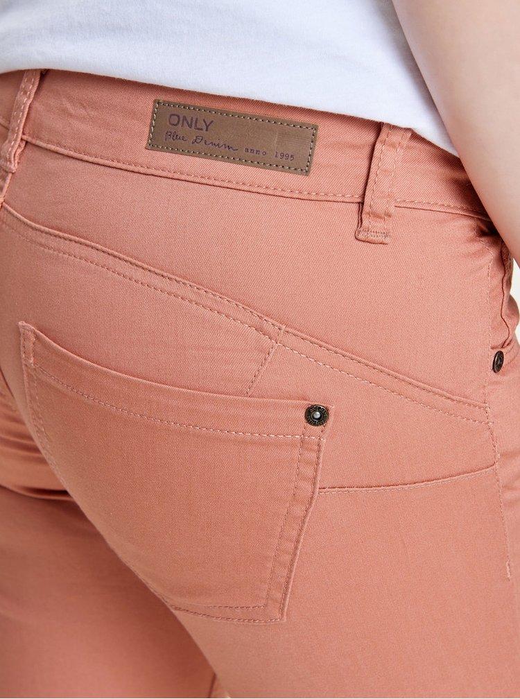 Starorůžové push up skinny džíny ONLY Lucia