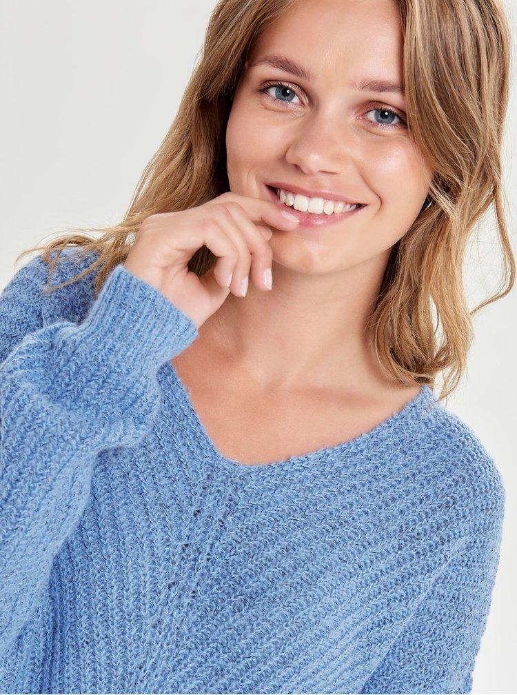 Pulover albastru impletit Jacqueline de Yong Megan