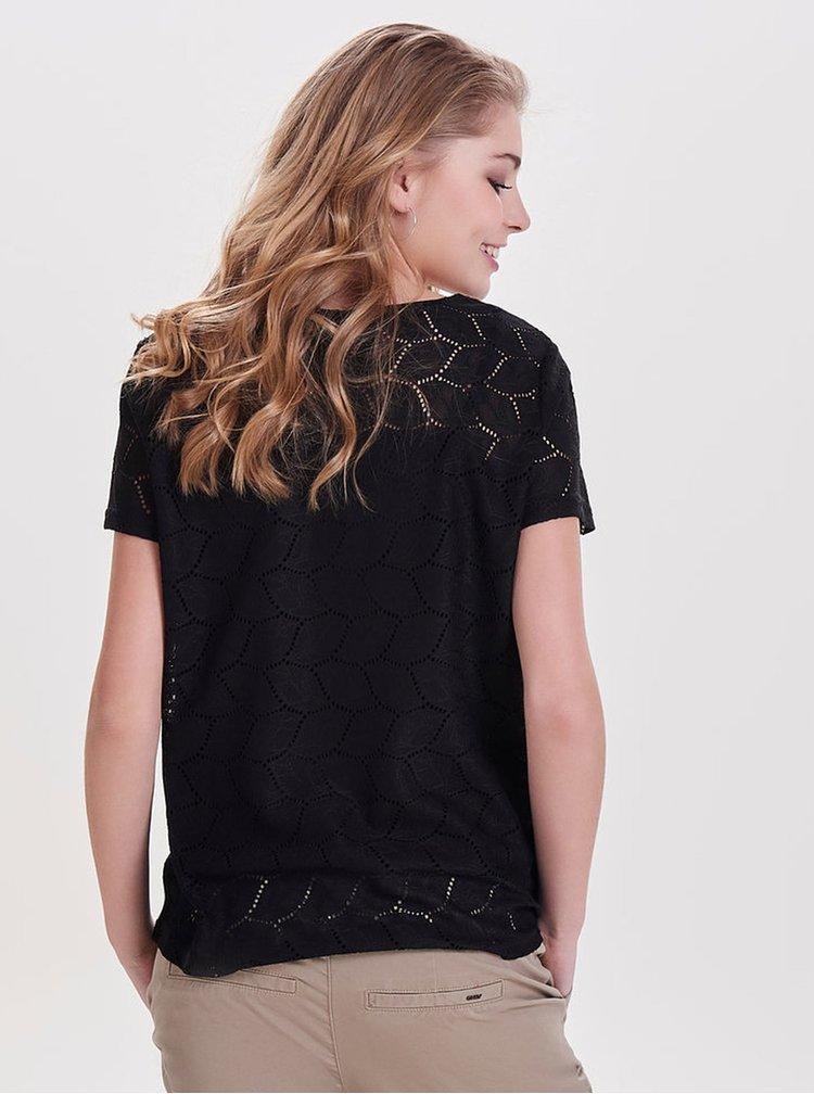 Čierna vzorovaná blúzka Jacqueline de Yong Tag