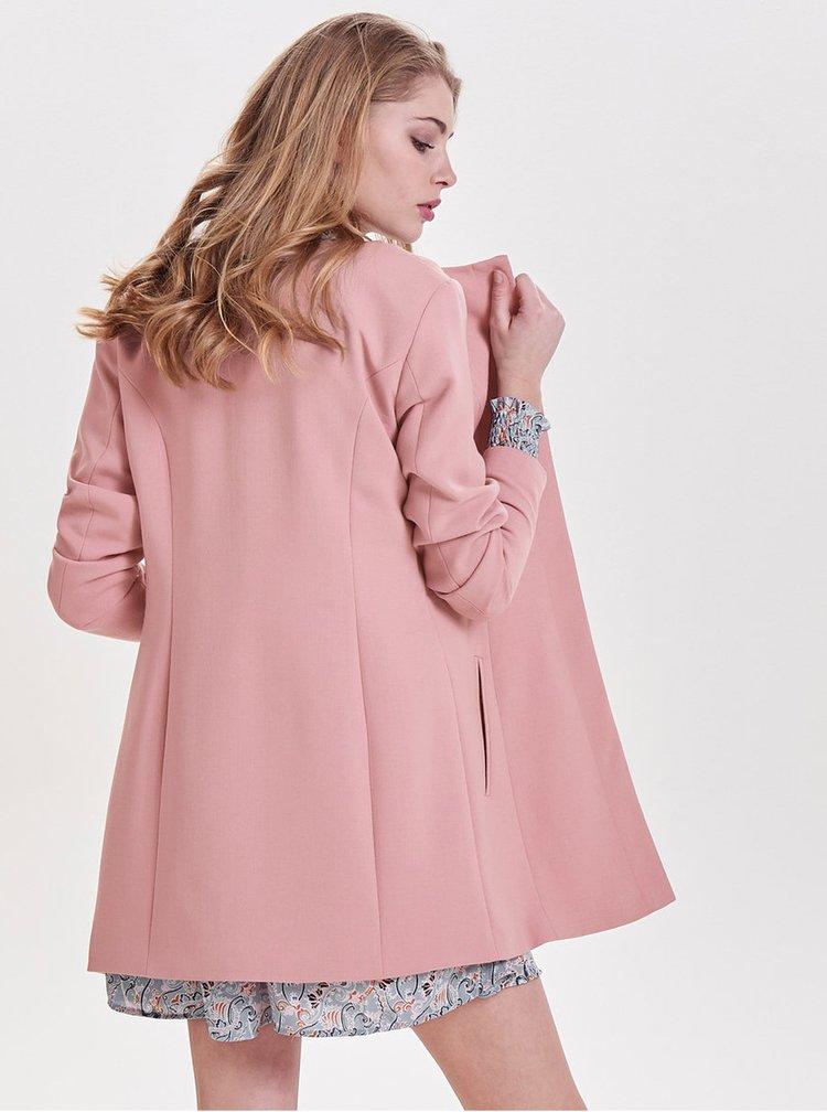 Starorůžový lehký kabát Jacqueline de Yong New Brighton