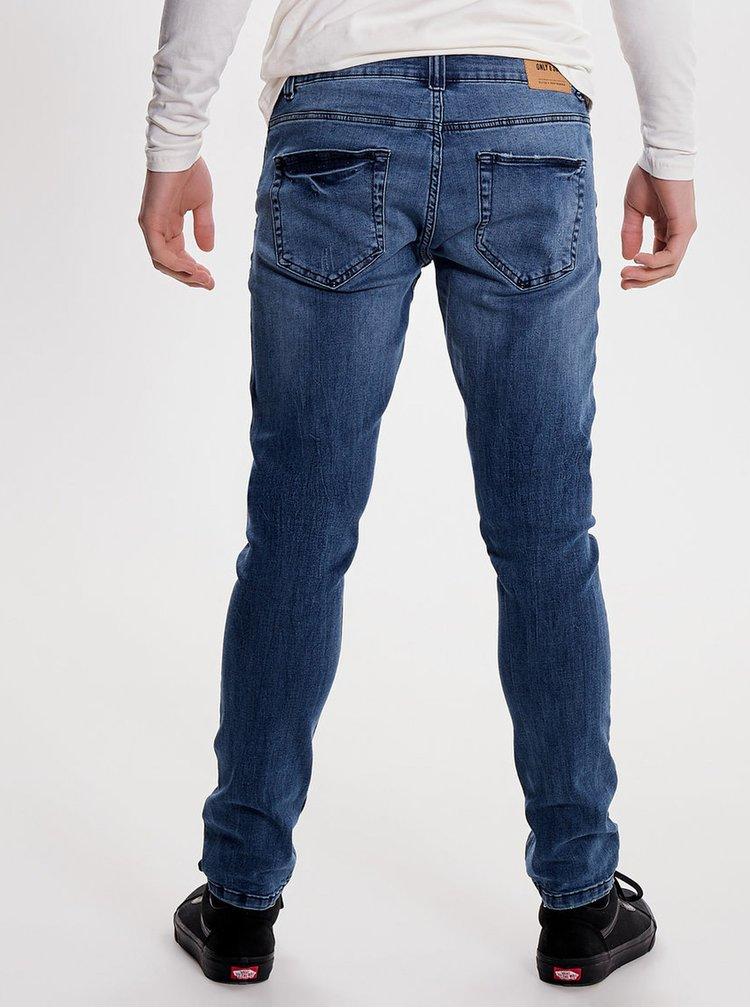 Modré slim džíny ONLY & SONS Spun