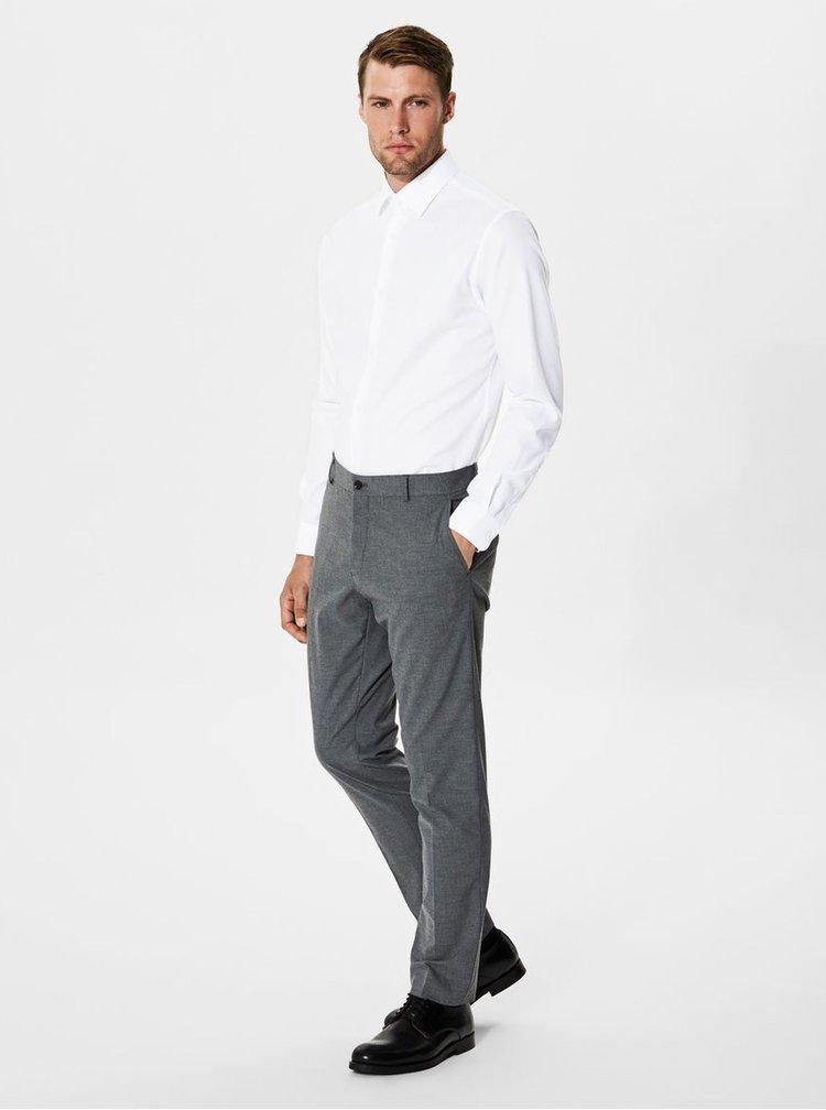Bílá formální slim fit košile Selected Homme One Pen