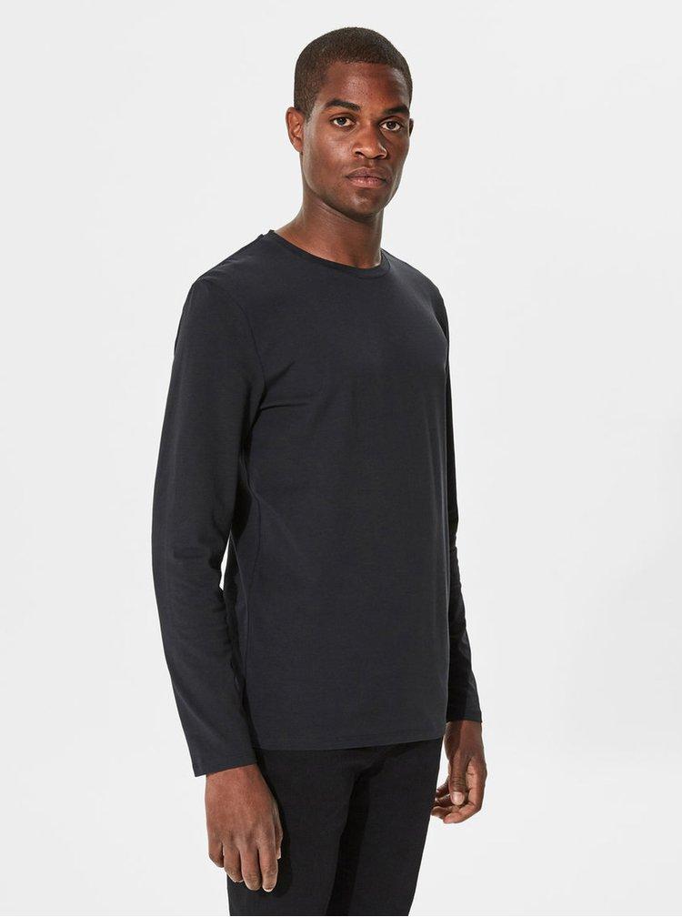 Černé basic tričko s dlouhým rukávem Selected Homme Basic