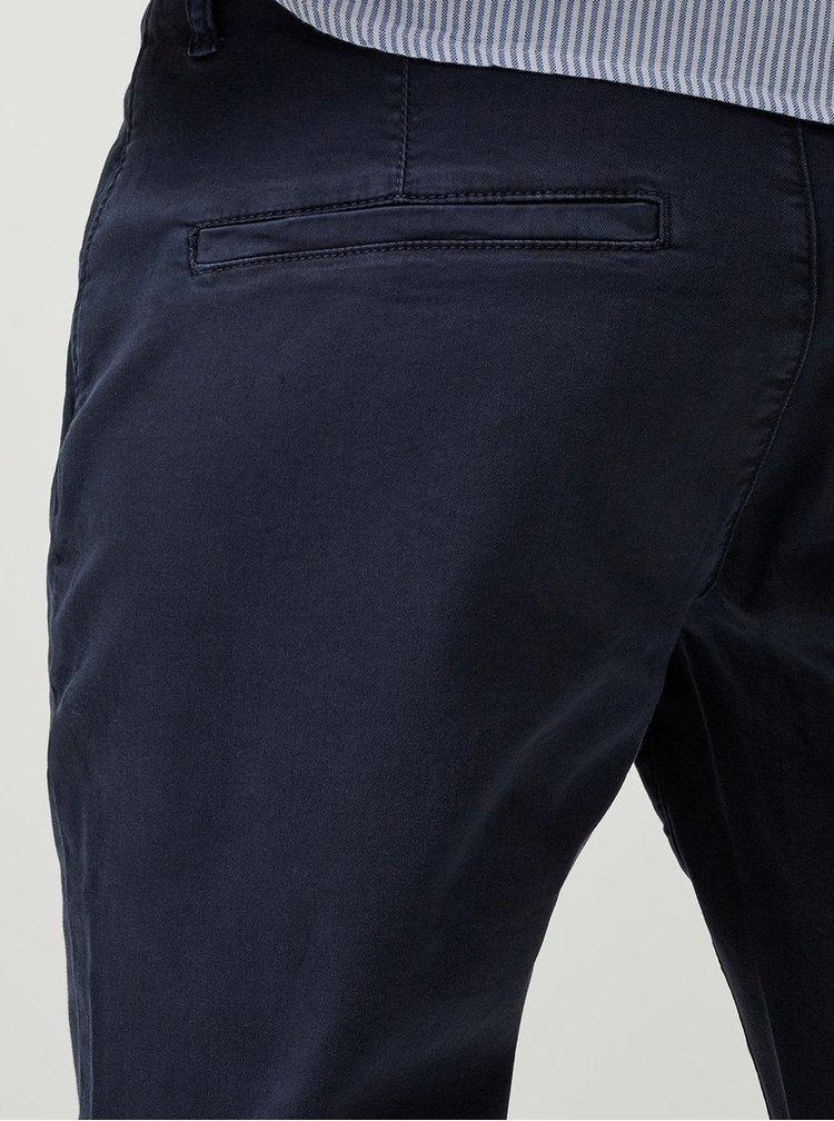 Tmavě modré chino kalhoty Selected Femme Ingrid