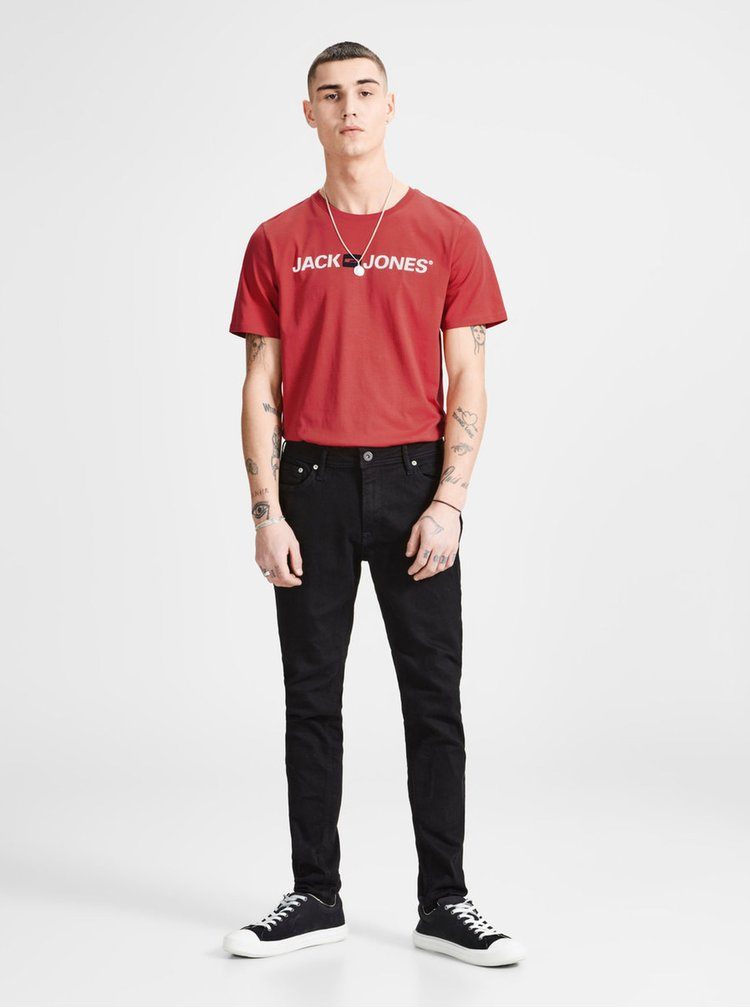 Červené tričko s potiskem Jack & Jones
