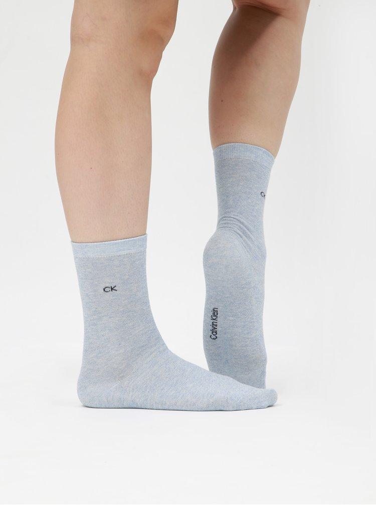 Sada tří párů dámských ponožek v šedé barvě a v dárkové krabičce Calvin Klein Jeans