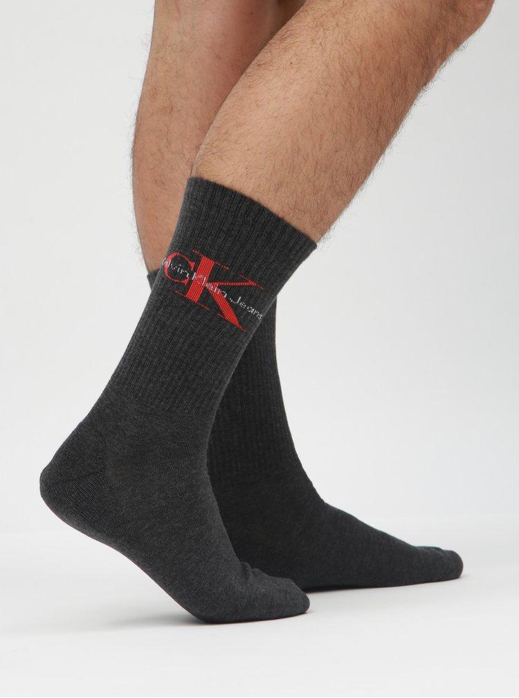 Tmavě šedé pánské ponožky Calvin Klein Jeans