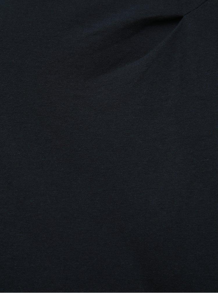 Čierne tričko s dlhým rukávom Tranquillo Anahita