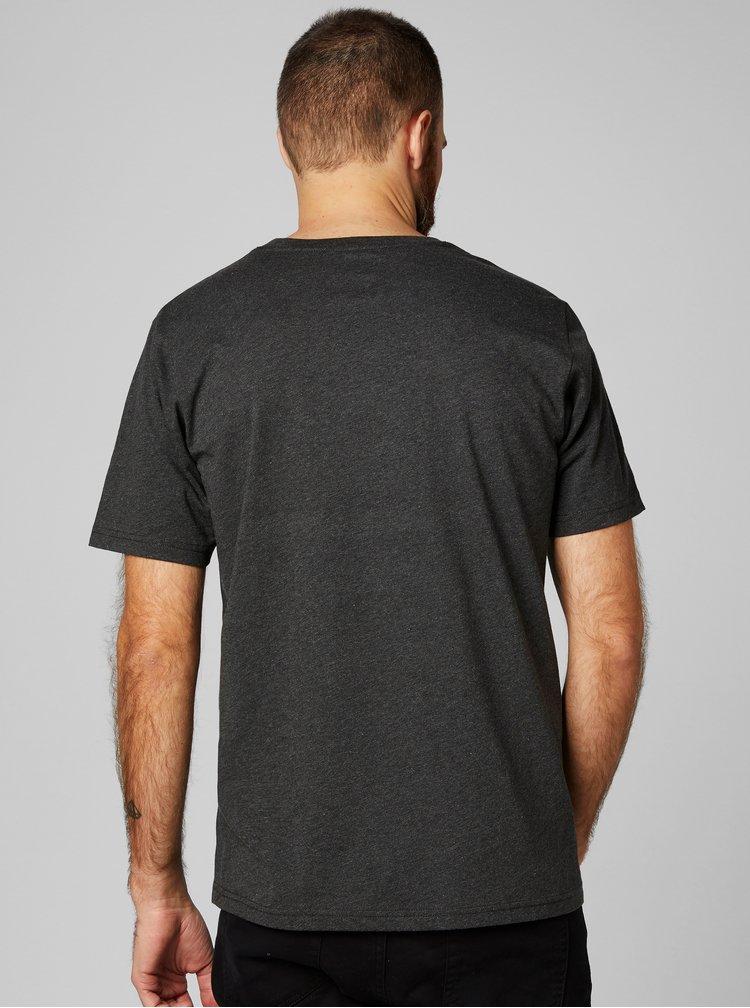 Sivé pánske regular fit tričko s výšivkou HELLY HANSEN