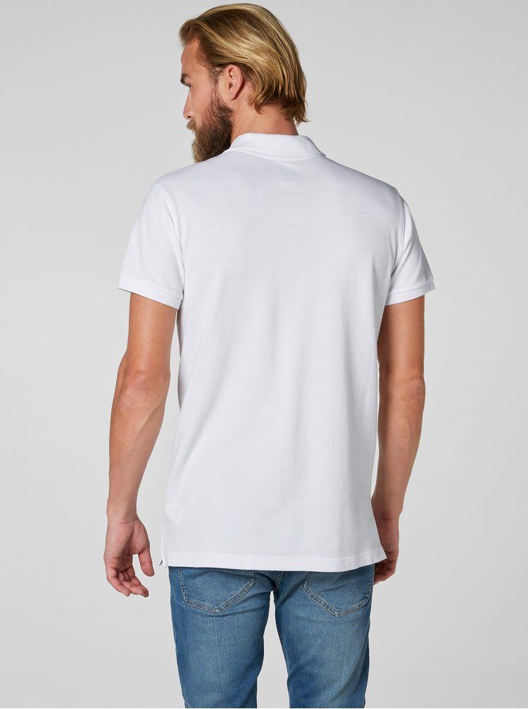 Bílé pánské  regular fit polo tričko s výšivkou HELLY HANSEN